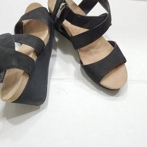 41301a6df7 Lucky Brand Shoes - Lucky Brand Kakina Wedge Leather Sandals